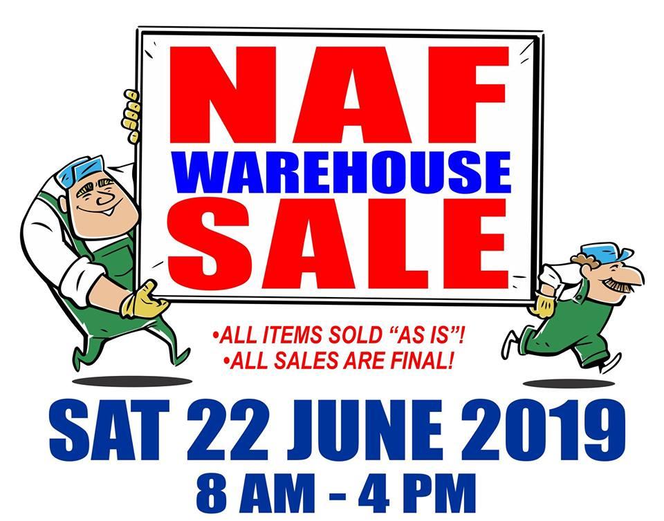 NAF Warehouse Sale